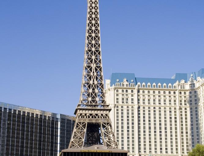 Eiffeltårnet ved Hotel Paris i Las Vegas